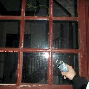 Photographed on Ghost Tour in Williamsburg VA Peyton Randolf House Mans Face